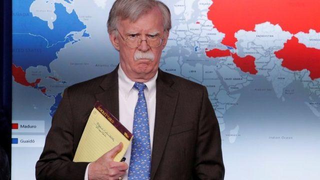 Las anotaciones en el cuaderno de John Bolton.