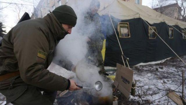 Soldado en Avdiivka