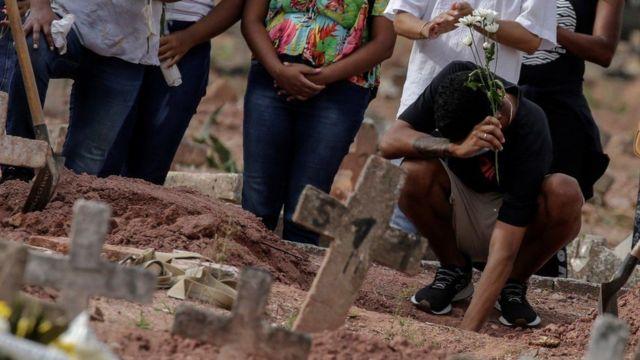 مقابر ضحايا الوباء في البرازيل.