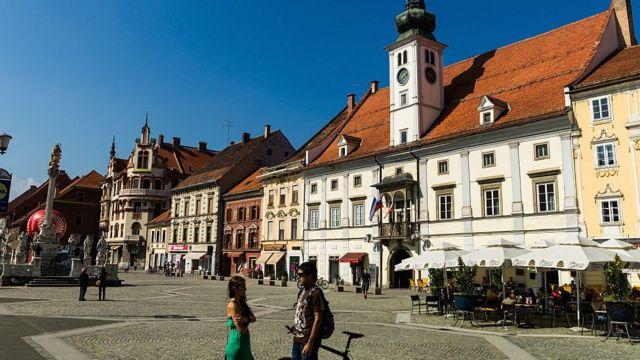 Square in Ljubljana, the capital of Slovenia.