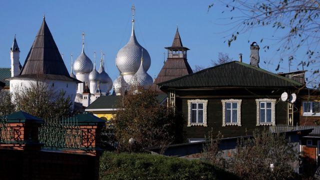 रूस के पुराने घर