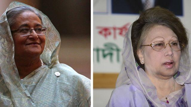 শেখ হাসিনা এবং খালেদা জিয়া ।