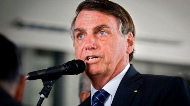 Presidente Jair Bolsonaro discursando