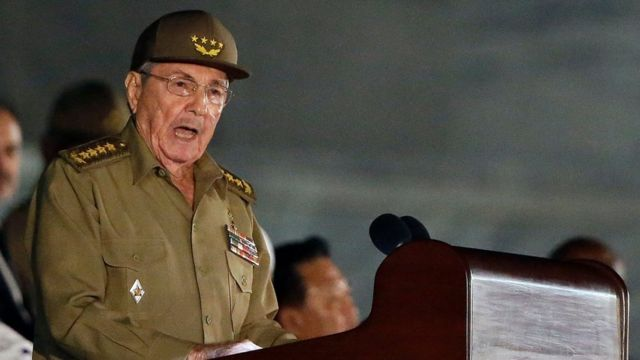 رائول کاسترو که پس از برادرش، فیدل در سال ۲۰۰۸ رئیس جمهور کوبا شد