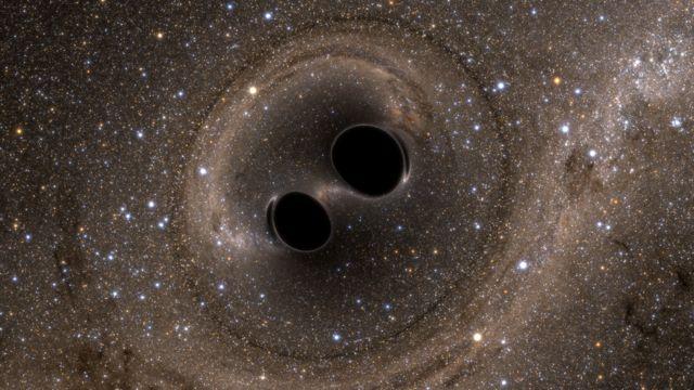 ブラックホール合体のシミュレーション