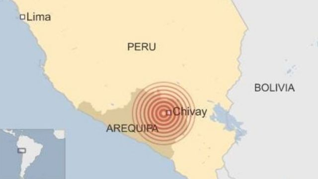 El epicentro del sismo en Perú ocurrió en Arequipa
