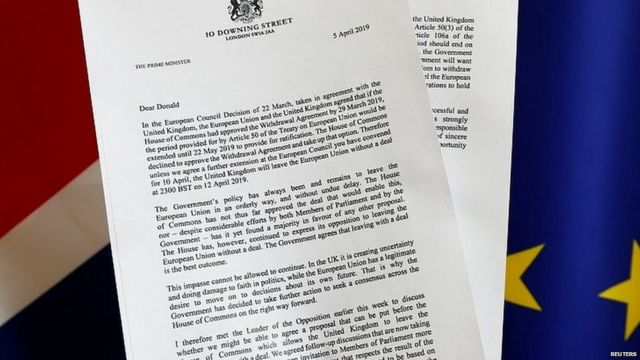 Copy of Theresa May's letter