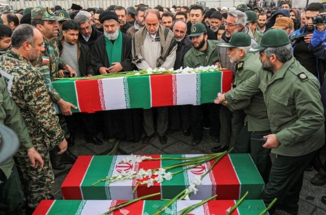 تشییع پیکر کشته شدگان هواپیمای اوکراینی