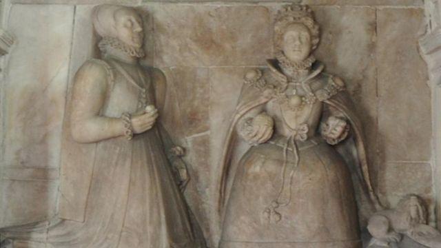 Escultura na igreja de Bacton