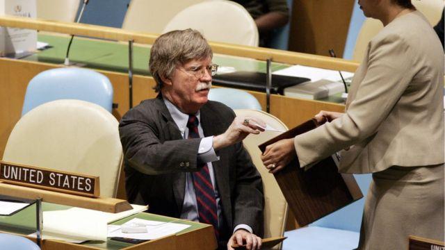 تا پیش ترامپ، ۱۶ ماه نمایندگی آمریکا در سازمان ملل، بالاترین مقامی بود که بولتون در عمر سیاسیاش به آن دست یافته بود