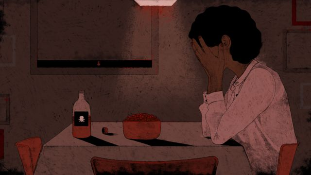 Catherine llorando