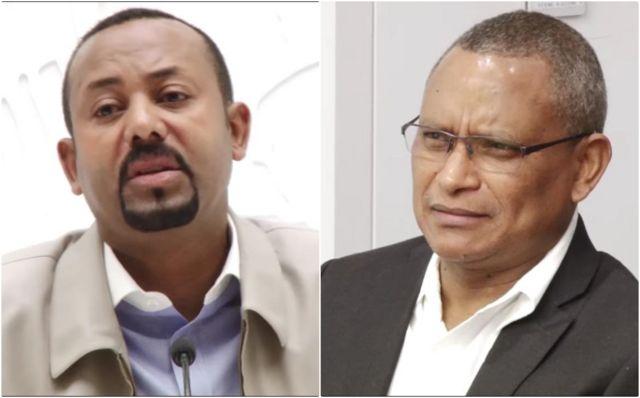 Ra'isal Wasaare Dr Abiy Axmed iyo Guddoomiyaha TPLF Dr Gebresiyon Gebre-Mikael