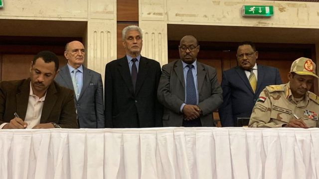 Sudan junta and civilians sign power-sharing deal