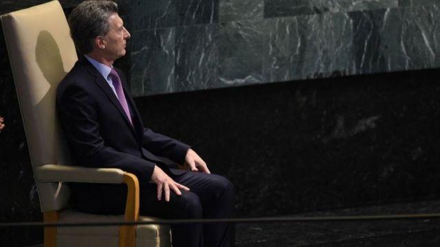 Macri, que esta semana habló en la ONU, ha impulsado una polémica política de mano firme contra la inseguridad.