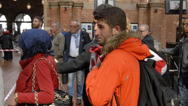 Мигранты на вокзале