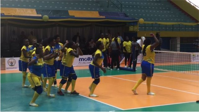 Ikipe y'abagore y'u Rwanda yegukanye igikombe cy'Afrika muri Volleyball