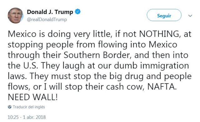 Tuit de Donald Trump