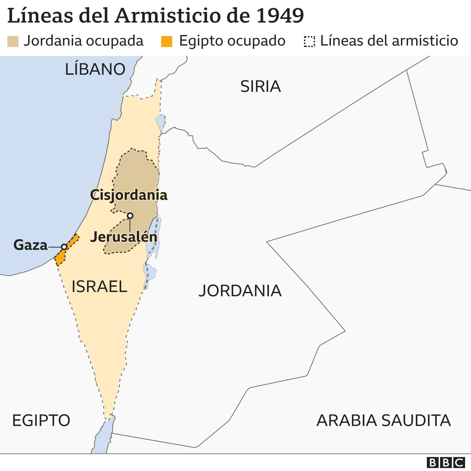 Mapa 3: Armisticio de 1949