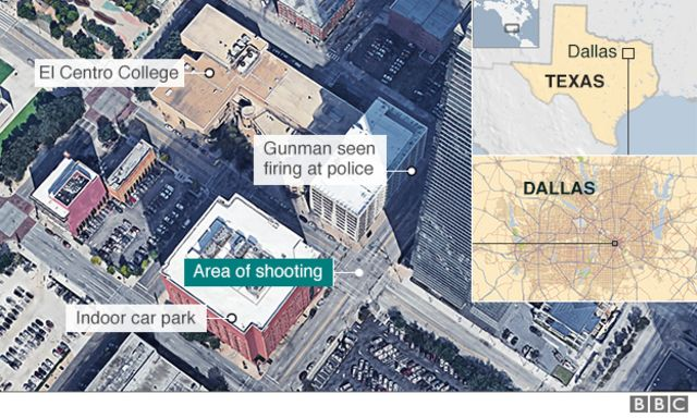 Dallas police shooting: Five officers killed, seven wounded by gunmen