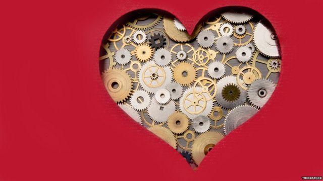 Corazón con maquinaria