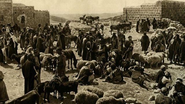 বিংশ শতাব্দীর শুরুর দিকে বেথলেহেমের একটি দৃশ্য