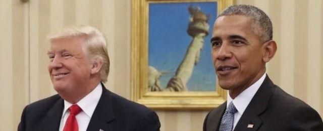 Wannan ne karon farko da Obama ke ganawa da Donald Trump