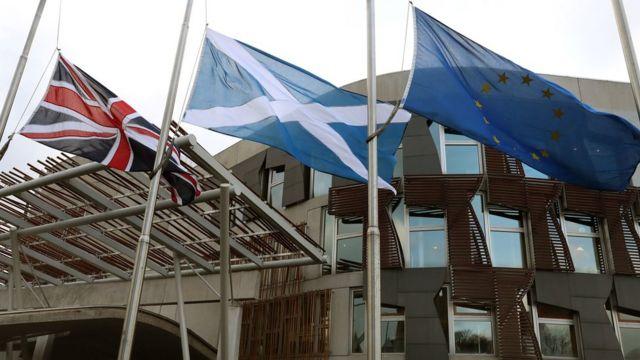 پرچم های اتحادیه اروپا، اسکاتلند، بریتانیا