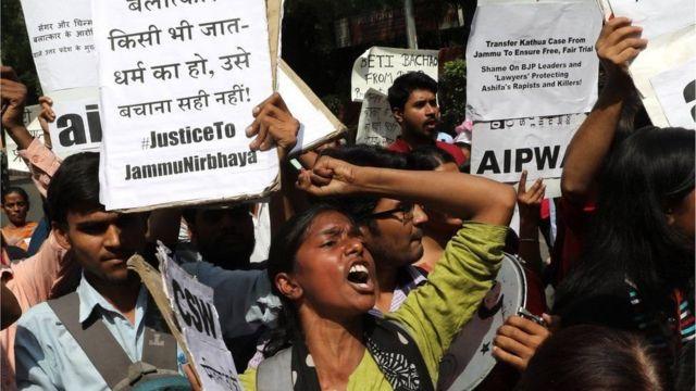 कश्मीरमा बलात्कारको विरोध