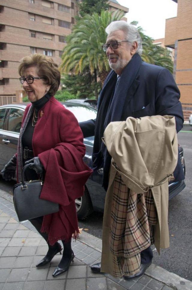 Пласидо Доминго с женой