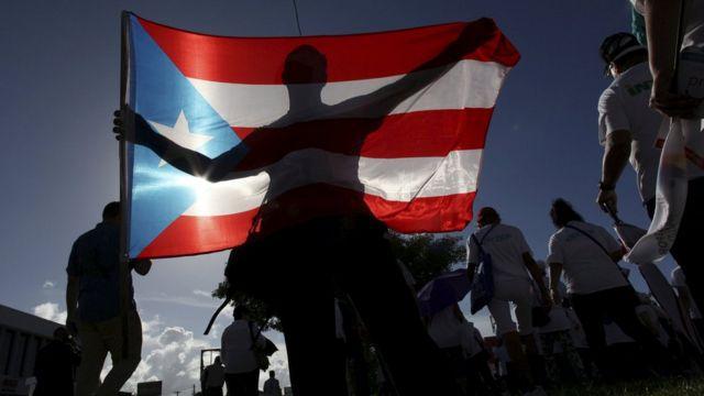 Protesta por mejoras en salud en Puerto ico en 2015.