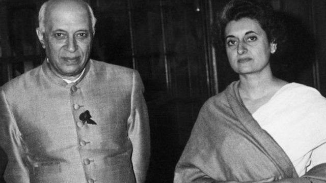 इंदिरा गांधी- जवाहर लाल नेहरू