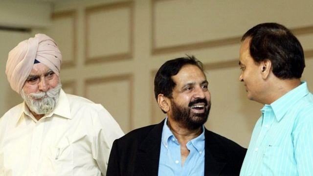 केपीएस गिल के साथ सुरेश कलमाडी