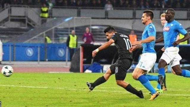 Sergio Aguero amekuwa mfungaji wa mabao mengi katika historia ya klabu ya Manchester City huku timu hiyo ikiilaza Napoli 4-2 ugenini