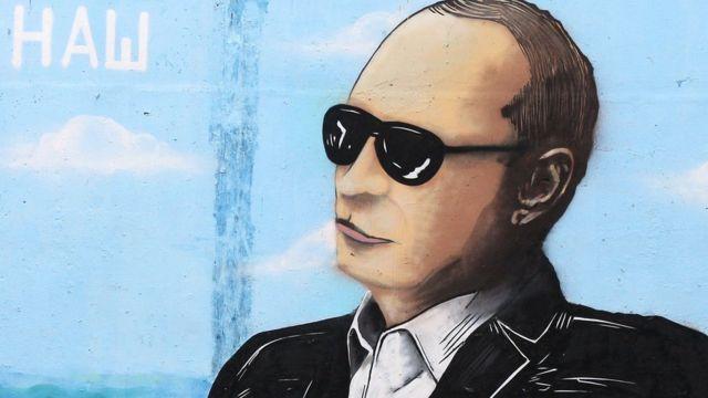 Krımın Simferopol şəhərində boyanmış divar