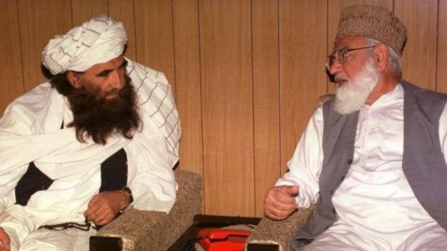 آقای حقانی و قاضی حسین احمد، رهبر پیشین جماعت اسلامی پاکستان