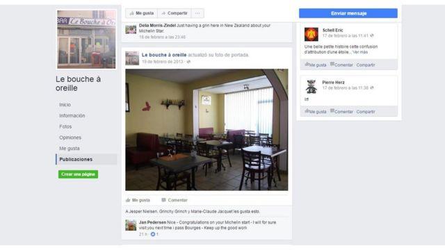 Facebook de Le Bouche a Oreille