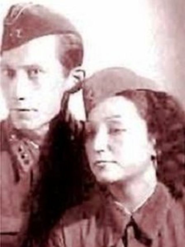 Foto de África de las Heras durante a Guerra Civil Espanhola