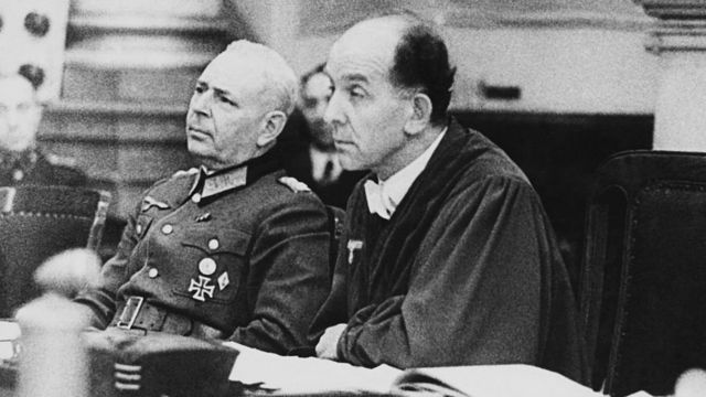 Roland Freisler (right) known as Hitler's judge, who sentenced Sophie and Hans Scholl and Christoph Probst to death in February 1943
