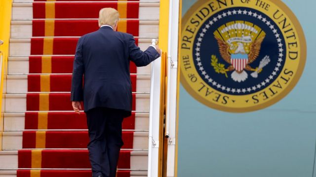 Trump on Air Force 1