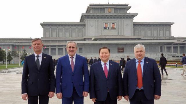 Депутаты Госдумы в Пхеньяне
