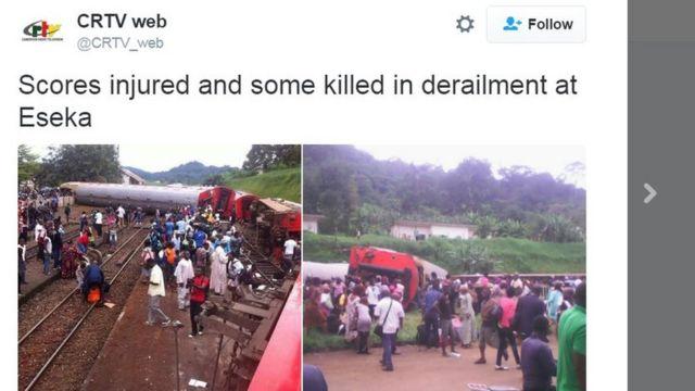 देश के सरकारी टीवी सीआरटीवी ने हादसे की तस्वीरें ट्वीट की हैं