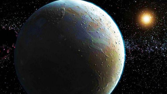 Plutão, em uma composição artística
