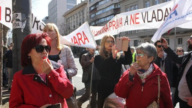 Protest CHF, Beograd 21. mart 2019.
