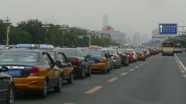 saobraćajna gužva u Aveniji Čeng'an, 2013. godine