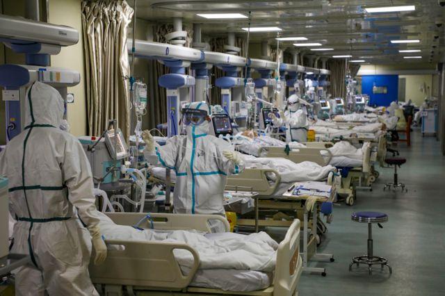 वुहान का अस्पताल