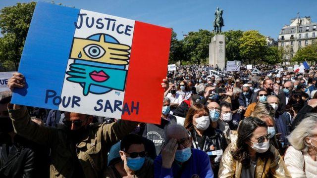 Sarah Halimi için adalet isteyen Fransızlar mahkeme kararını protesto etti