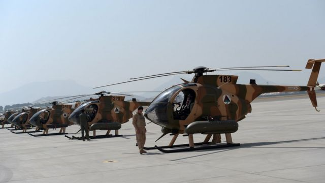 Helicópteros estadounidenses en Afganistán
