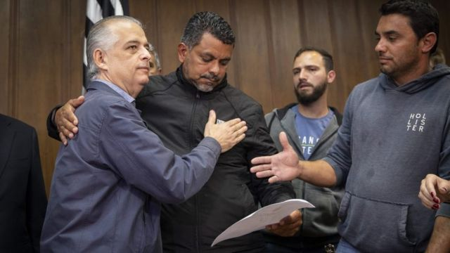 Governador de São Paulo Márcio França reunido com representantes dos caminhoneiros