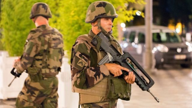 Soldiers in Nice
