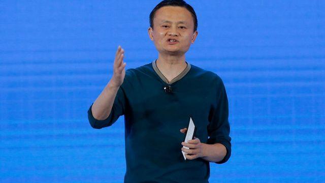 Imagen de Jack Ma en una reciente conferencia sobre datos en China.